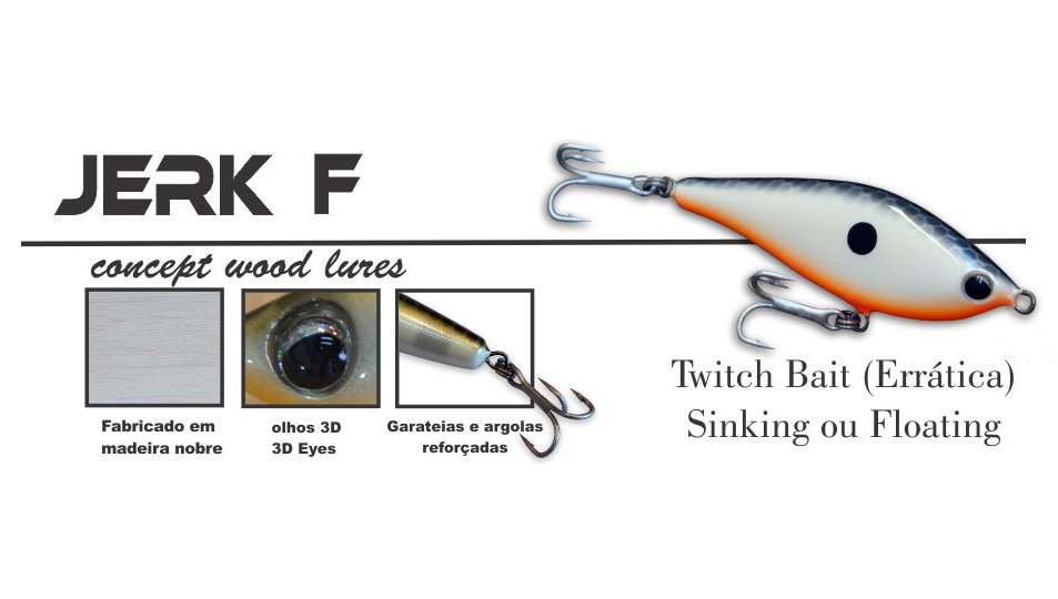 Isca Artificial OCL Lures Jerk F 70  - MGPesca
