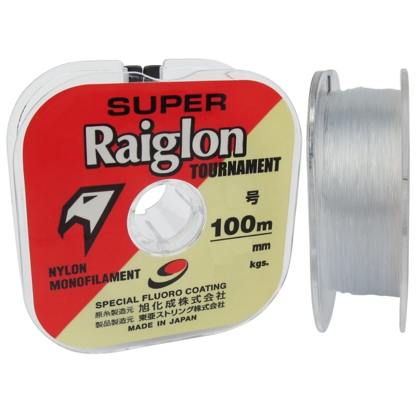 Linha Monofilamento Super Raiglon Tournament Branca 100m  - MGPesca