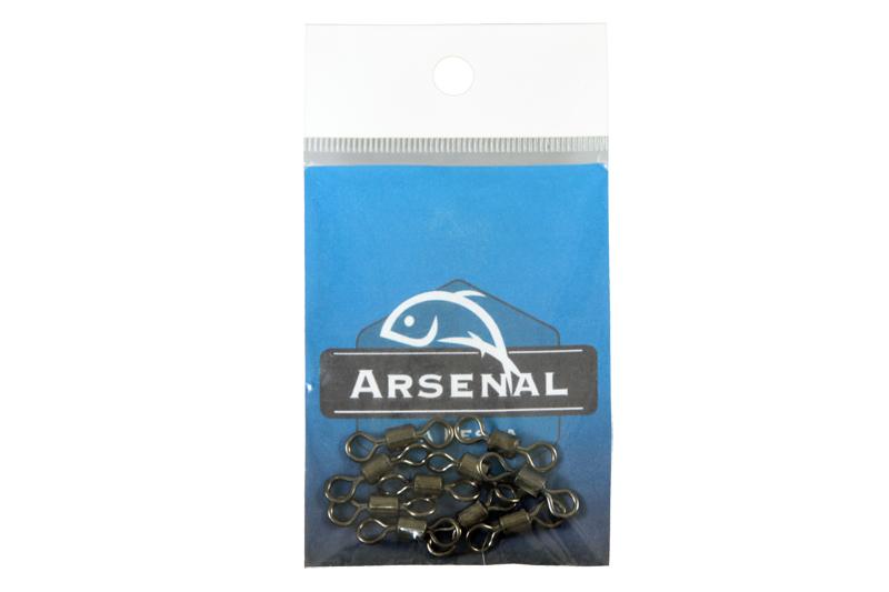 Girador Arsenal da pesca Tipo Rolamentado - Black Nickel  - MGPesca