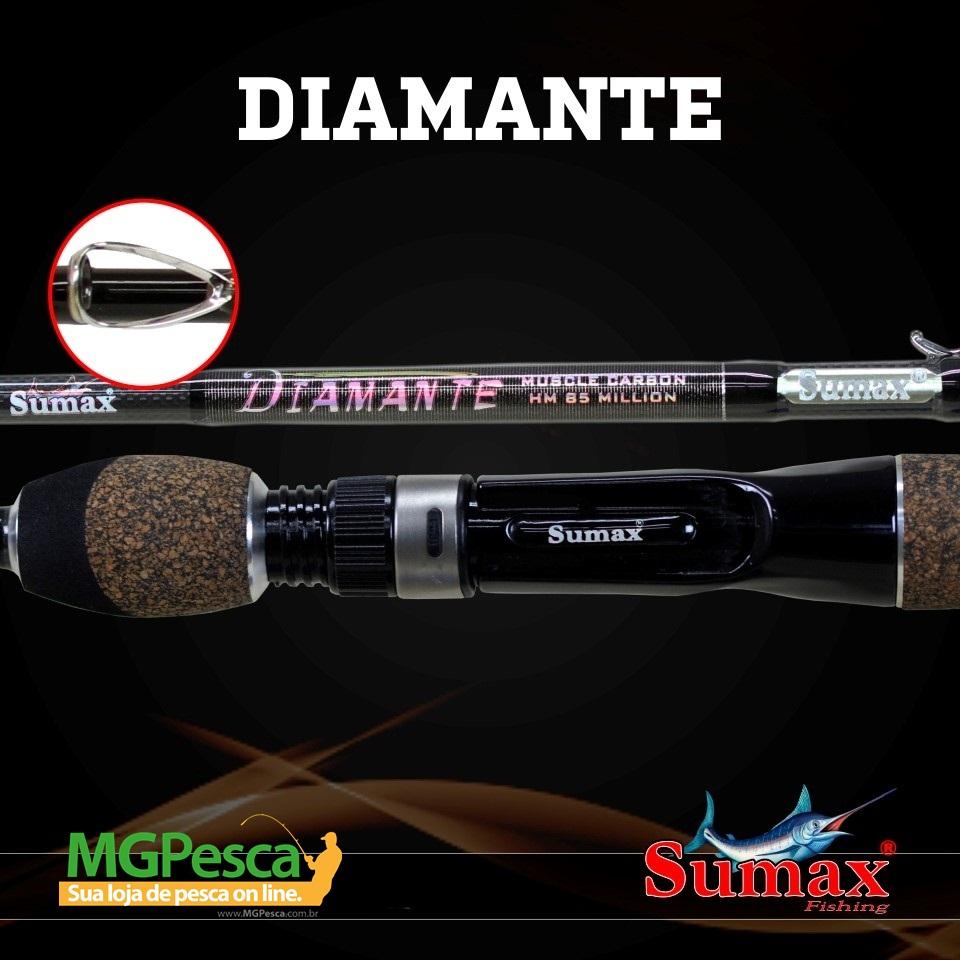 "Vara para carretilha Sumax Diamante 5´6"" (1,68m) 16 Lbs - LDM 561MC  - MGPesca"