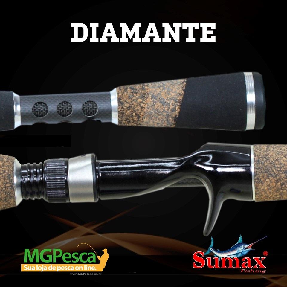 "Vara para carretilha Sumax Diamante 6"" (1,80m) 20 Lbs - LDM 601MHC  - MGPesca"