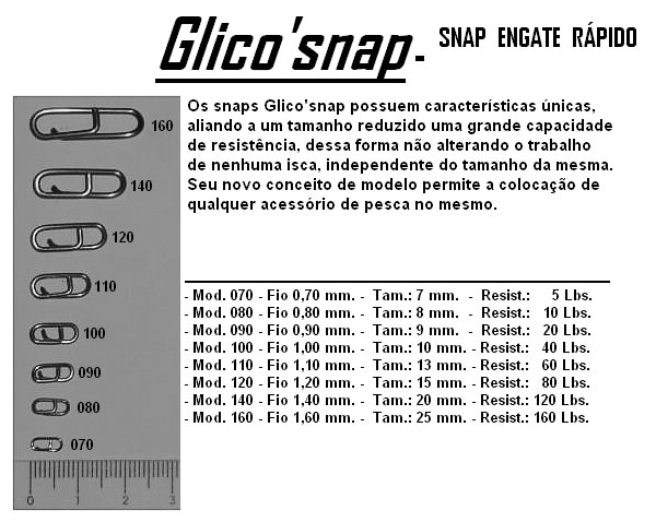 Snap Engate Rápido Glico Snap  - MGPesca