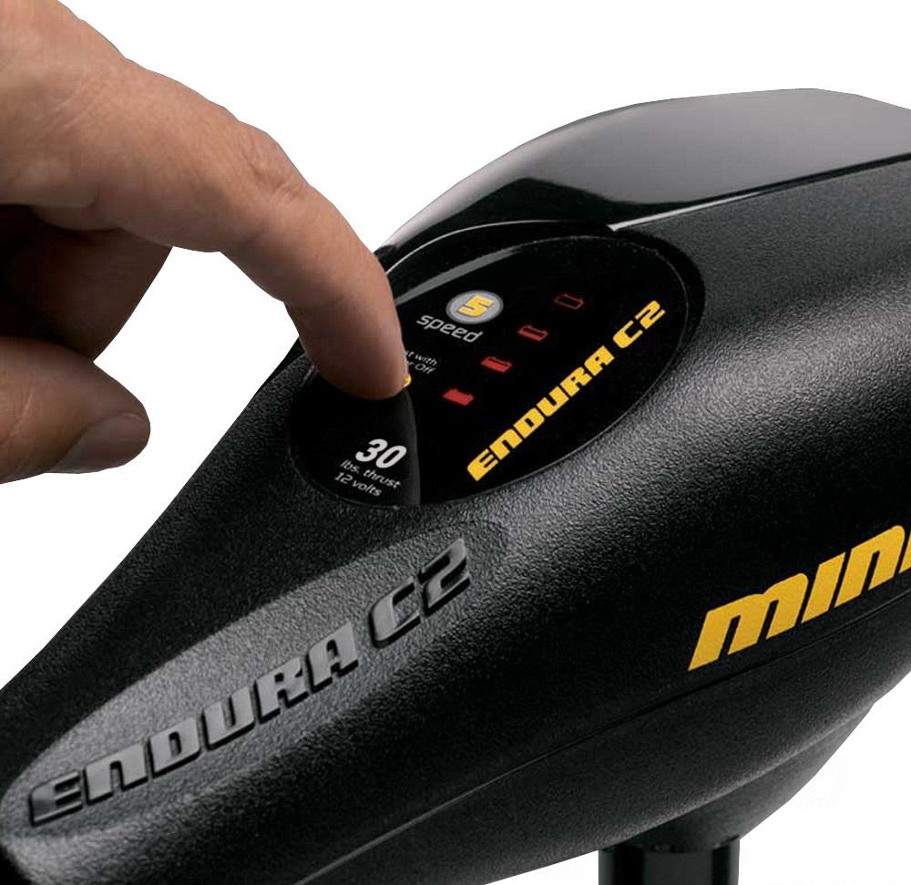 Motor Elétrico Minn Kota Endura C2 30 Lb Digital com medidor de bateria - Haste 76cm  - MGPesca