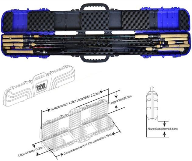 Porta Varas Retrátil Marine Sports MS-RH08 (Bazuka) - Azul  - MGPesca