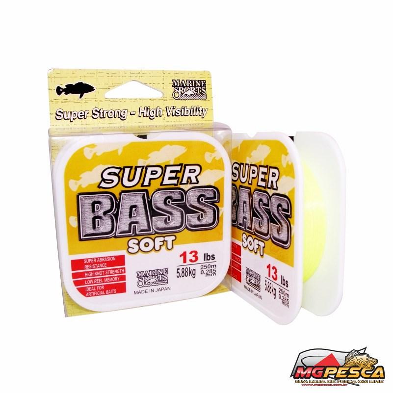 Linha Monofilamento Marine Sports Super Bass Soft - Amarela  - MGPesca