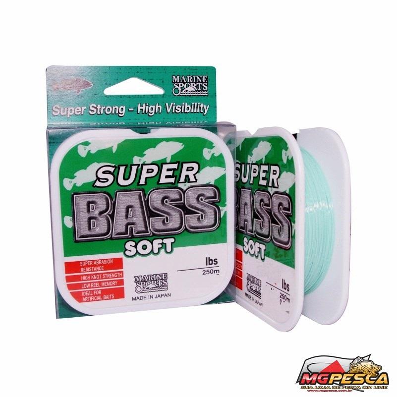 Linha Monofilamento Marine Sports Super Bass Soft - Verde  - MGPesca