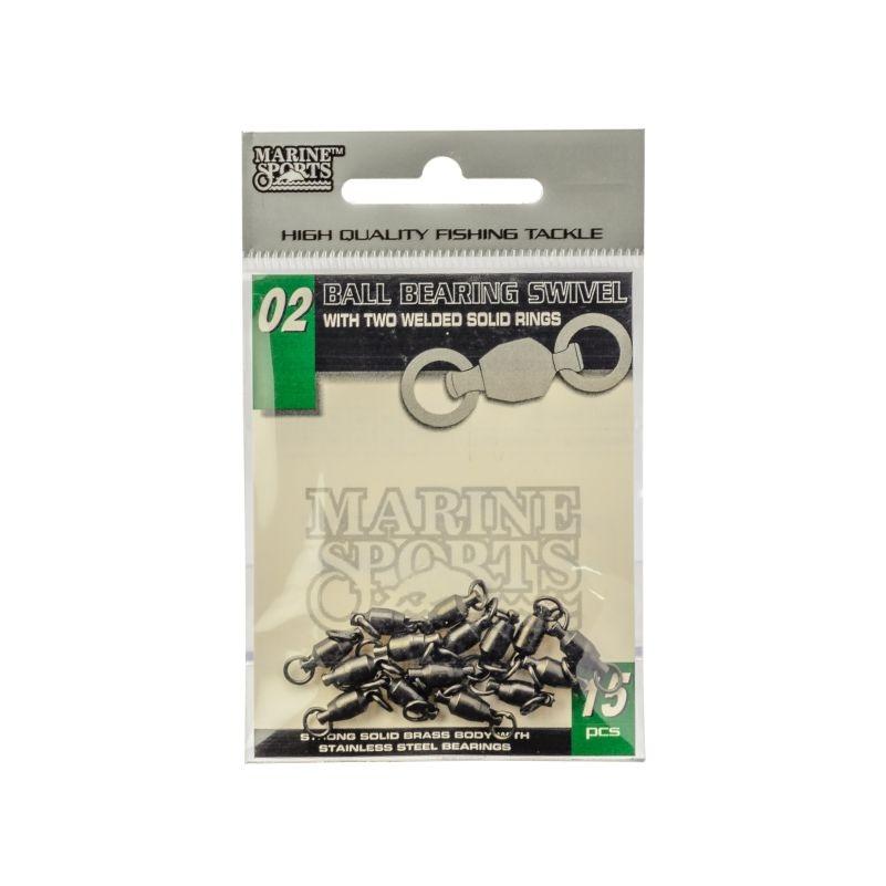 Girador Marine Sports Black Nickel com rolamento 70 Lbs - Tamanho 04 com 15 unidades  - MGPesca