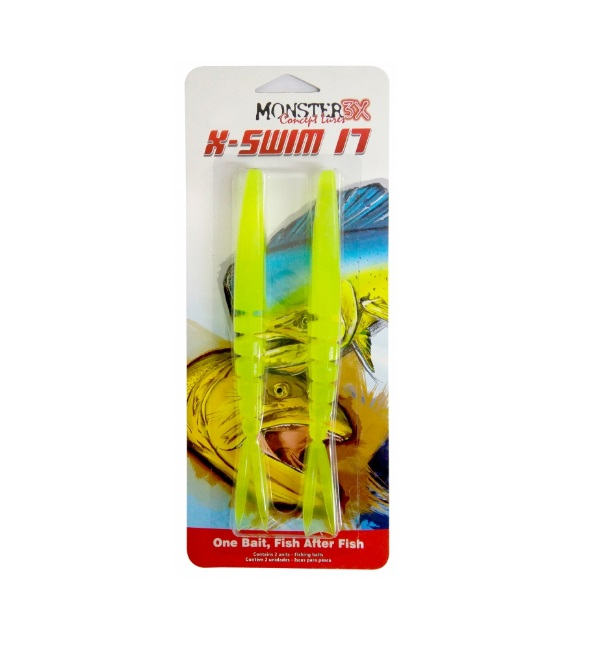 Isca Artificial Monster 3X X-Swim 17  - MGPesca