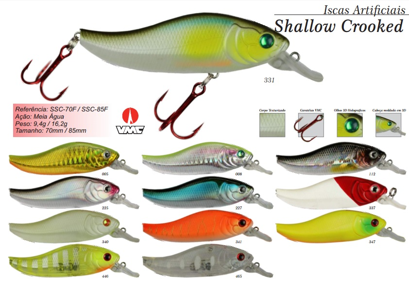 Isca Artificial Sumax Shallow Crooked 70 SSC-70 F  - MGPesca