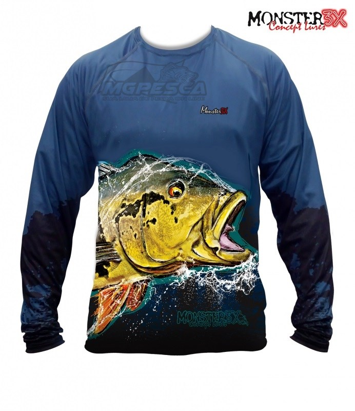 Camisa Monster 3X - New Fish Collection - Tucunaré Açu  - MGPesca