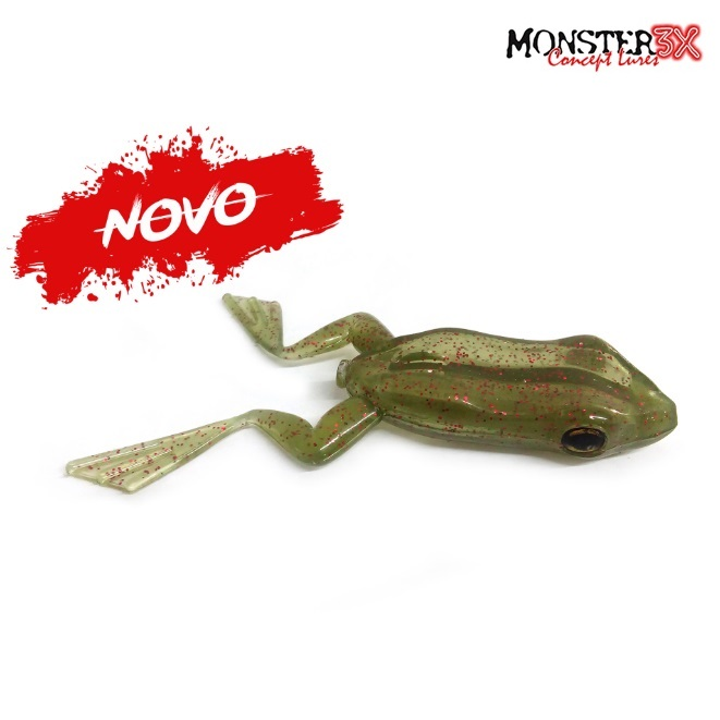 Isca Artificial Monster 3X X-Frog Top Water + 1 Anzol EWG  - MGPesca