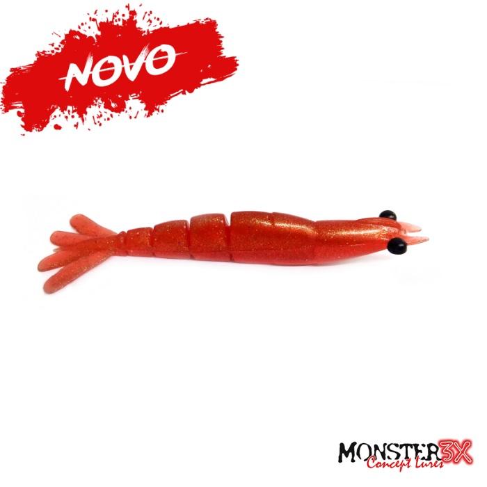 Isca Artificial Monster 3X Camarão X-Move Premium 90 - 9cm  - MGPesca
