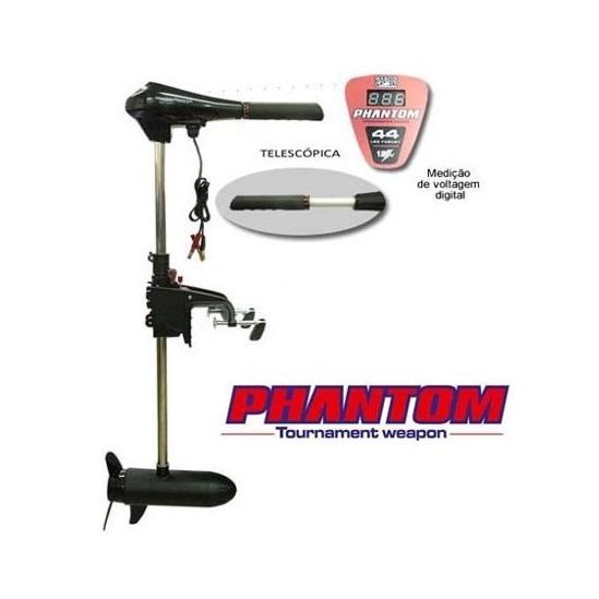 Motor Elétrico Phantom 44 Libras - Marcador Digital - Água Doce  - MGPesca