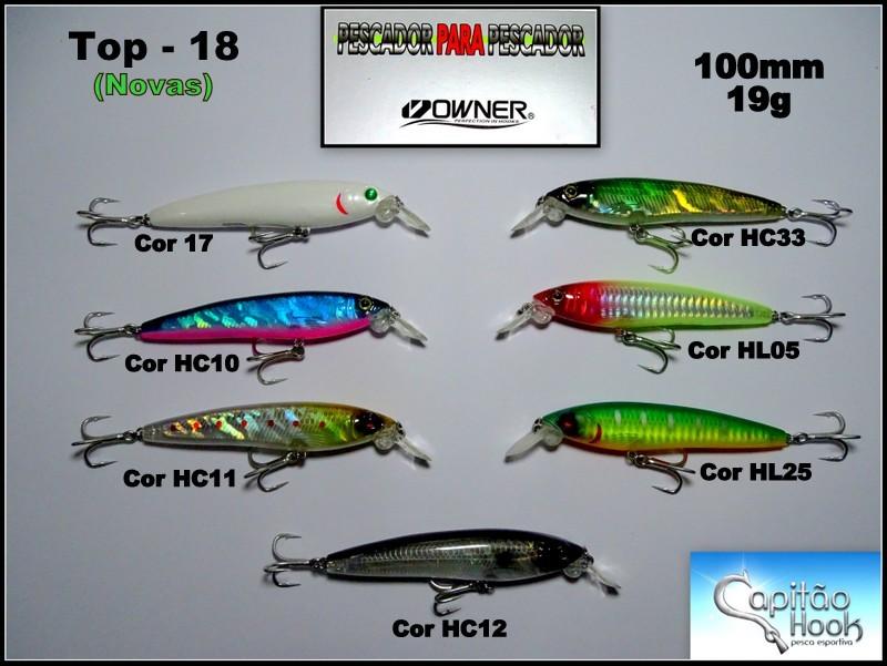 Isca Artificial Capitão Hook TOP 18 Fatal Killer - 10cm  - MGPesca