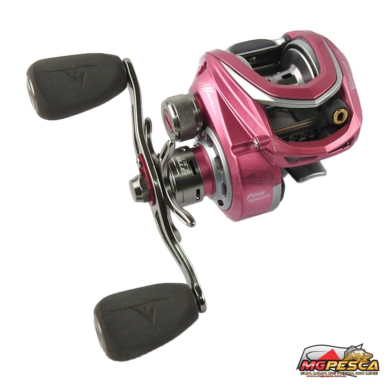 Carretilha Marine Sports Venator LITE Pink Special Edition by Johnny Hoffmann  - MGPesca