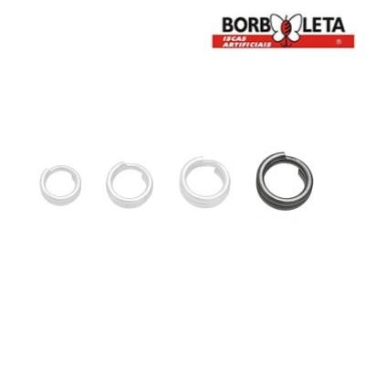 Argola Split Ring em Aço Inox - Borboleta - Cartela c/ 20 unidades
