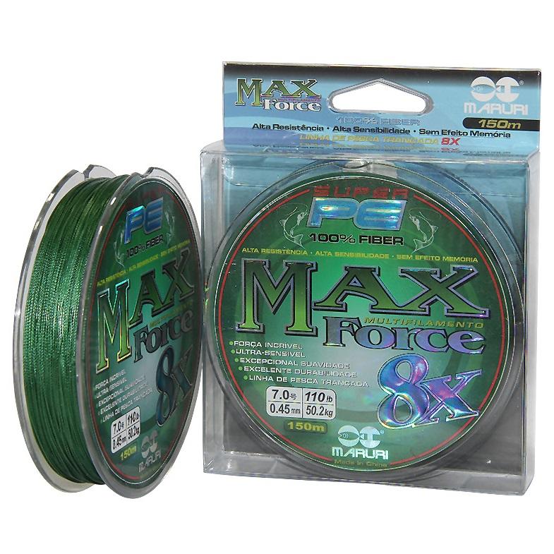 Linha Multifilamento Maruri Max Force 8x - 150 metros  - MGPesca