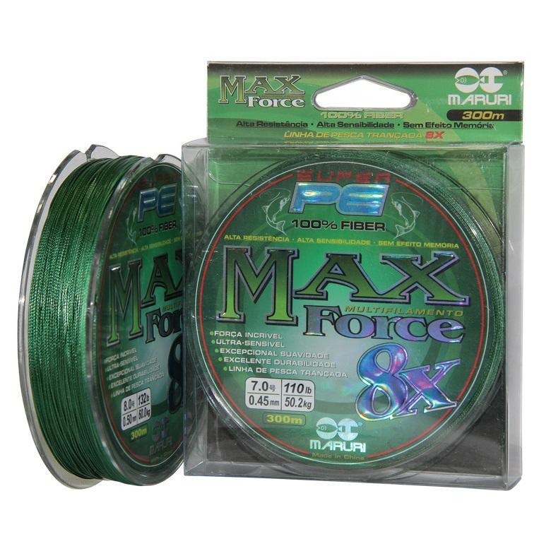 Linha Multifilamento Maruri Max Force 8x - 300 metros  - MGPesca