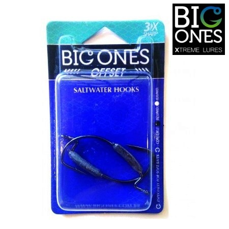 Anzol Big Ones EWG OffSet Lastreado - Embalagem com 02 unidades  - MGPesca