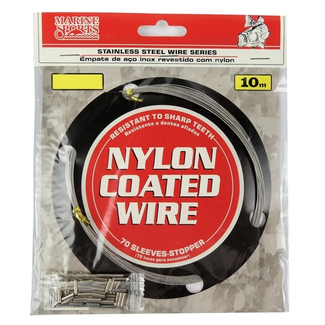 Cabo de Aço Flexível Marine Sports Nylon Coated Wire 10m  - MGPesca