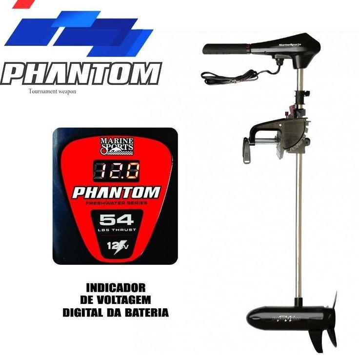 Motor Elétrico Phantom 54 Libras - Marcador Digital - Água Doce  - MGPesca