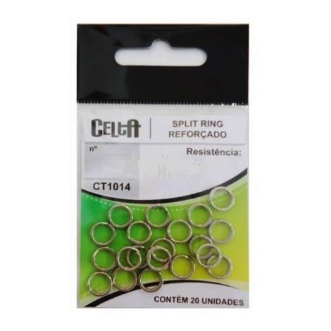Argola Split Ring Reforçado Celta CT1014  - MGPesca