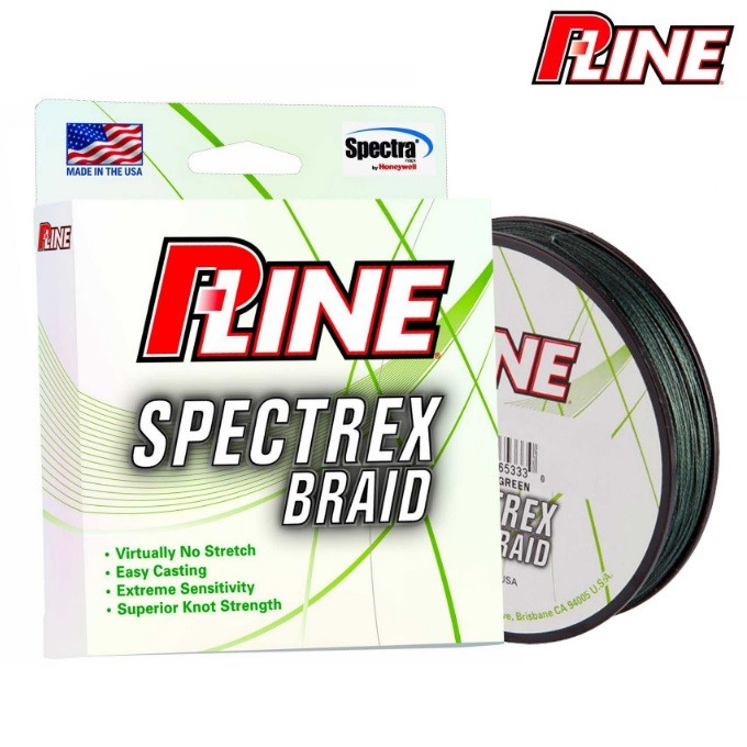 Linha Multifilamento P-LINE Spectrex Braid 300Yds 0,36mm 50 Lbs  - MGPesca