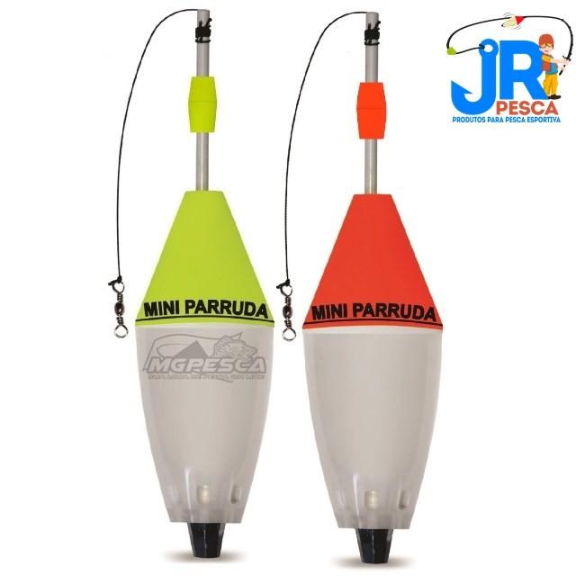 Boia Cevadeira JR Pesca Mini Parruda com Rolha Fixa - 2 cores  - MGPesca