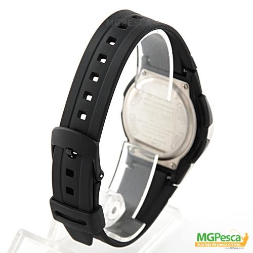 Relógio Casio Fishing Gear - Pesca E Fases Da Lua - Pulseira de borracha fundo preto - AW-82  - MGPesca