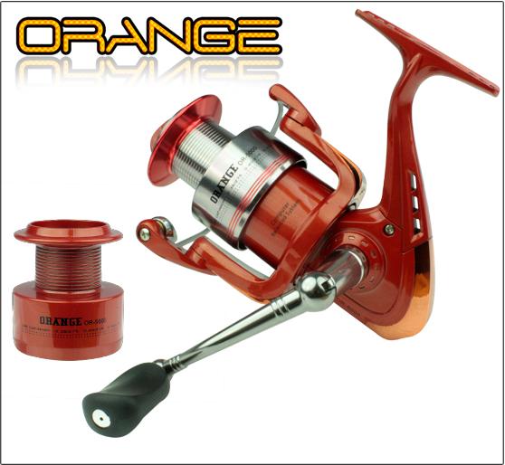 Molinete  Sumax Orange OR-4000 carretel de alumínio  - MGPesca