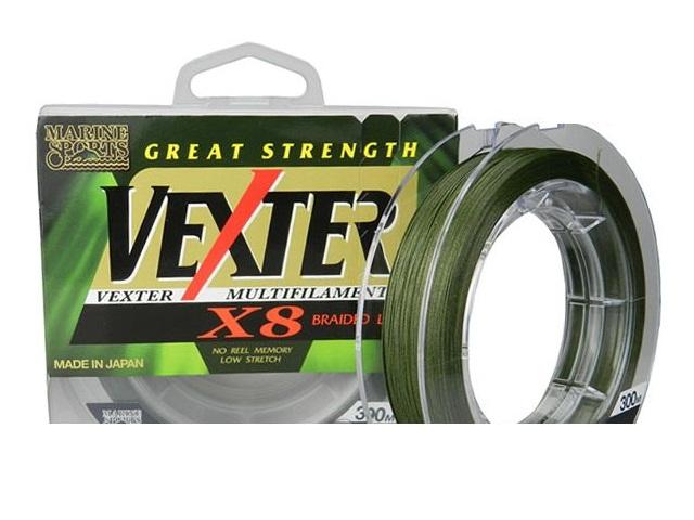 Linha Multifilamento Vexter X8 Verde 15lbs - 0,15mm - 300m - Marine Sports  - MGPesca