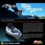 Caiaque de Pesca Lontras Falcon Speedhawk Kamu Exército com Pedal, Assento Elevado e Remo - (Pronta entrega)