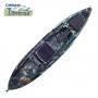 Caiaque de Pesca Lontras Shark Kamu Exército - Completo Assento Elevado e Remo Duplo - (Pronta entrega)