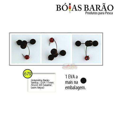 Anteninha Boias Barão Tamba EVA com Miçanga Anzol Sasame 3/0 - Nº 672  - MGPesca