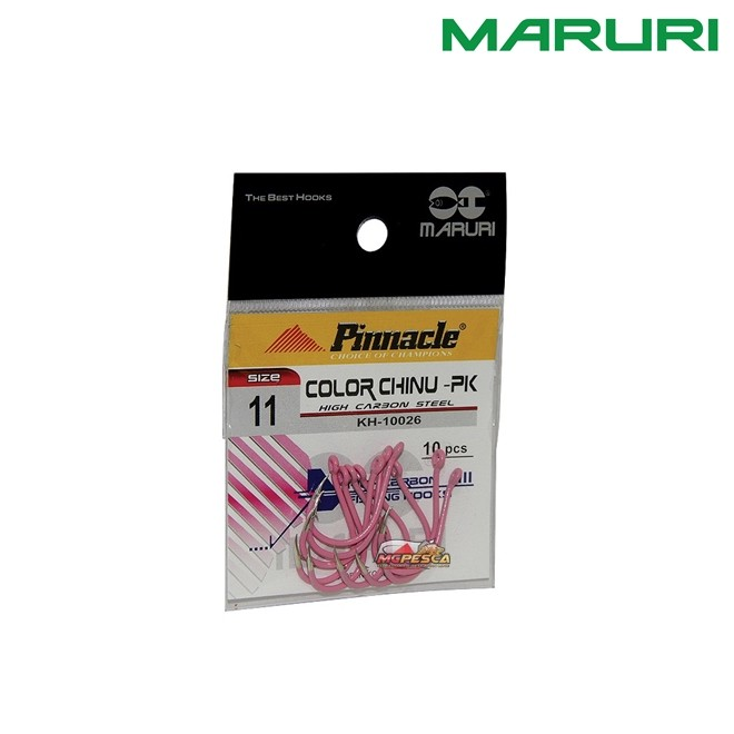 Anzol Pinnacle Chinu Ring Pink - KH-10026 - Cartela com 10 Unidades  - MGPesca