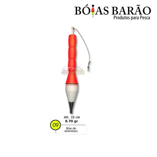 Boia Barão de Arremesso Nº 09  - MGPesca