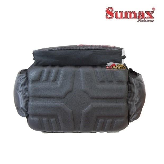 Bolsa de Pesca Sumax New SM-705 Preta - Acompanha 4 Estojos  - MGPesca