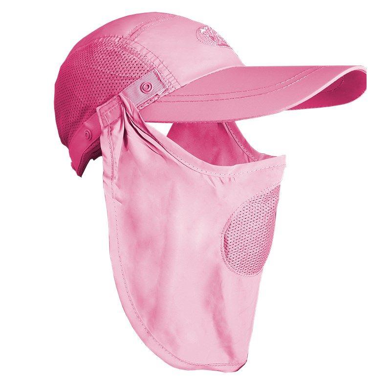 Boné Albatroz Camp Rosa - Proteção de Pescoço e Rosto  - MGPesca