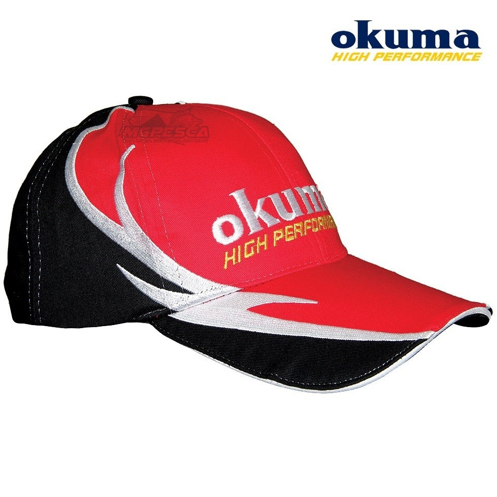 Boné Okuma High Performance Vermelho com Preto  - MGPesca
