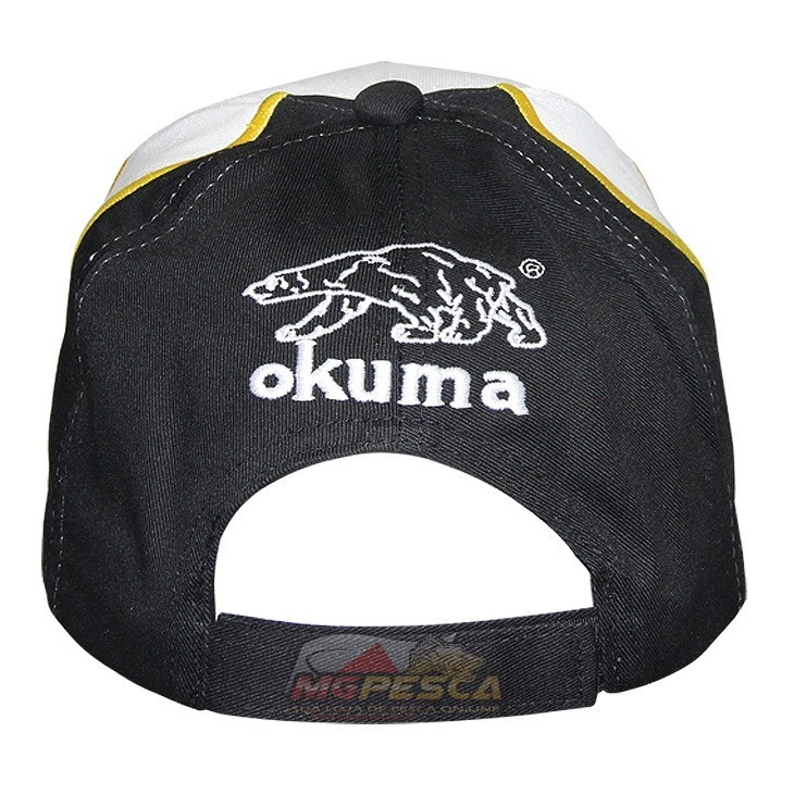 Boné Okuma Inspired Fishing Branco com Preto  - MGPesca