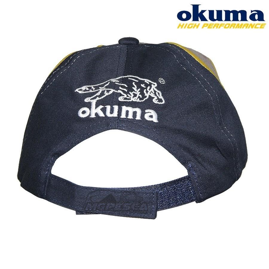 Boné Okuma Inspired Fishing Cinza com Azul  - MGPesca