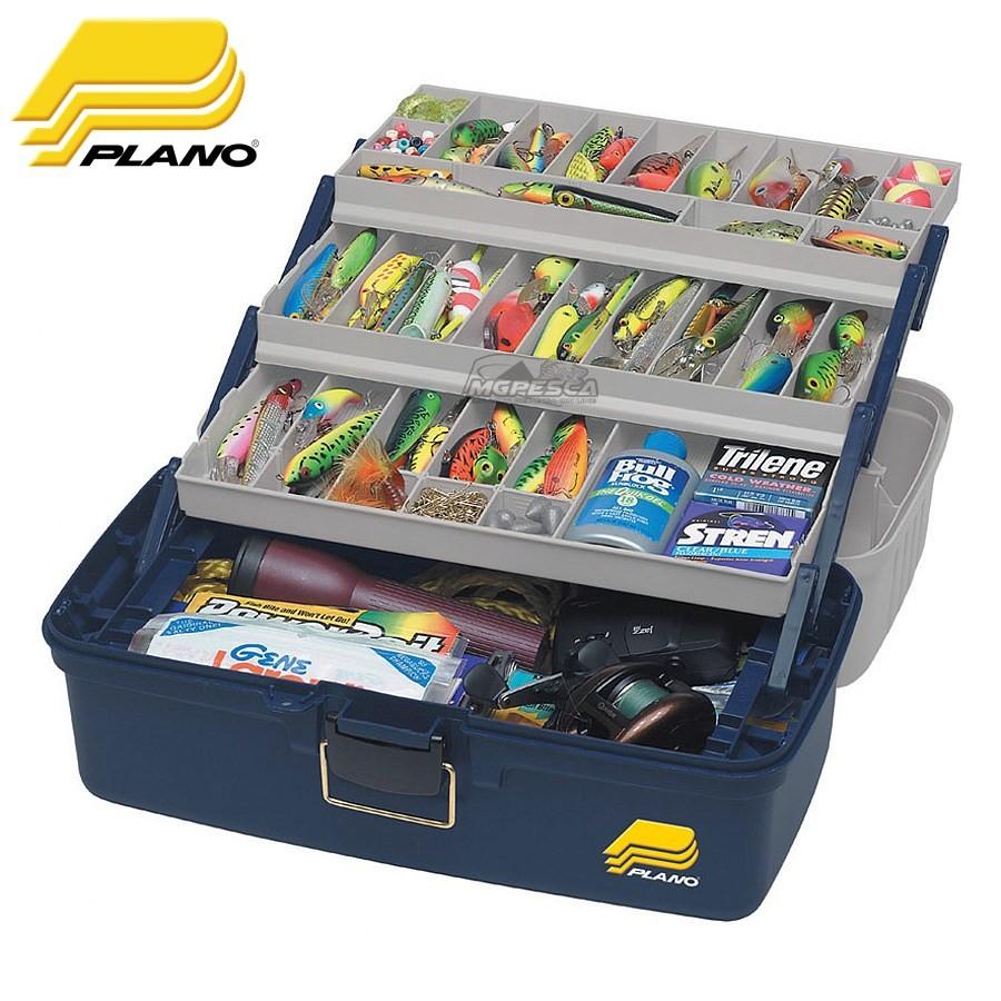 Caixa de Pesca Plano 6133-06 XL com 3 Bandejas  - MGPesca