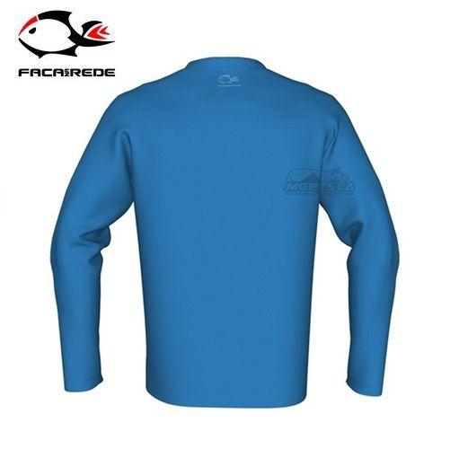 Camisa Faca na Rede Combat Clean Azul  - MGPesca