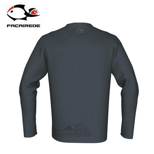 Camisa Faca na Rede Combat Clean Cinza  - MGPesca