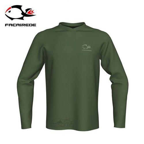 Camisa Faca na Rede Combat Clean Verde  - MGPesca