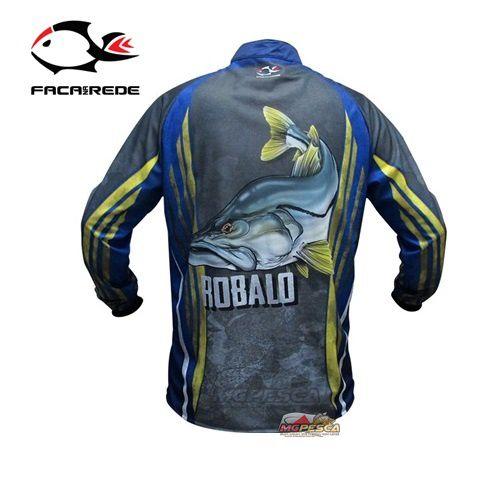 Camisa Faca na Rede Jersey Robalo NC 23  - MGPesca