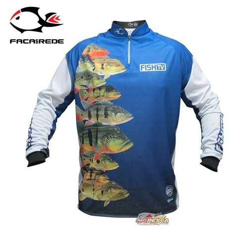 Camisa Faca na Rede Licensed Jersey FISH TV LC 03  - MGPesca