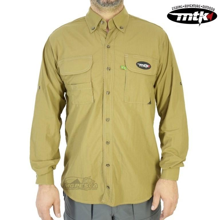 Camisa MTK Sky - Caqui - FPS 50+ ( UVB e UVA )  - MGPesca