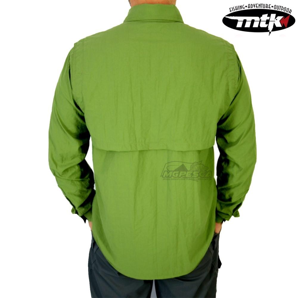 Camisa MTK Sky - Verde - FPS 50+ ( UVB e UVA )  - MGPesca