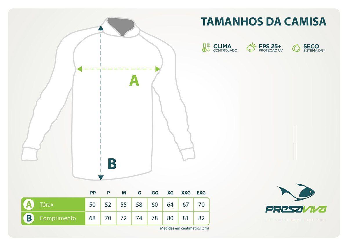 Camisa Presa Viva MGPESCA Cinza 03 - Dry Favo Micro Geração 2 - FPS25  - MGPesca